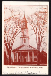 MA - Springfield - First Church, Congregational - 1907