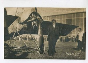 299632 GERMANY Johannisthal Air Field Anthony Fokker at his military airplane
