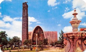 Jardin y Templo Monterrey, NL Mexico Tarjeta Postal Unused