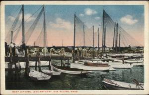 Oak Bluffs Martha's Vineyard MA Lake Anthony Boat Landing c1920 Postcard