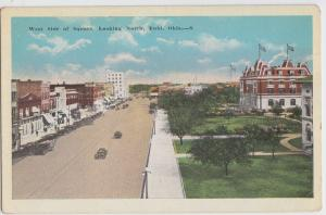 c1910 ENID Oklahoma Ok Postcard West Side of SQUARE North Court House?