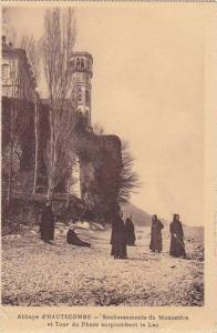 France Abbaye d'Hautecombe Soubassements du Monastere et Tour du Phare surplo...