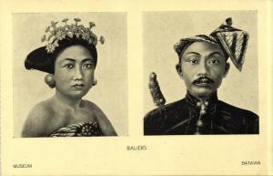 indonesia, BALI, Native Balinese Types (1930s) Batavia Museum Postcard