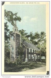 Covenanters Church Grand Pre, Nova Scotia NS, Canada, White border