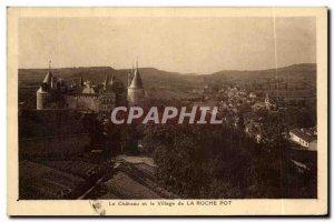Old Postcard The Castle and the Village of La Roche Pot