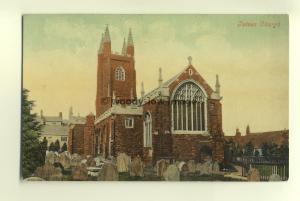 cu1434 - Totnes Church , Devon - postcard