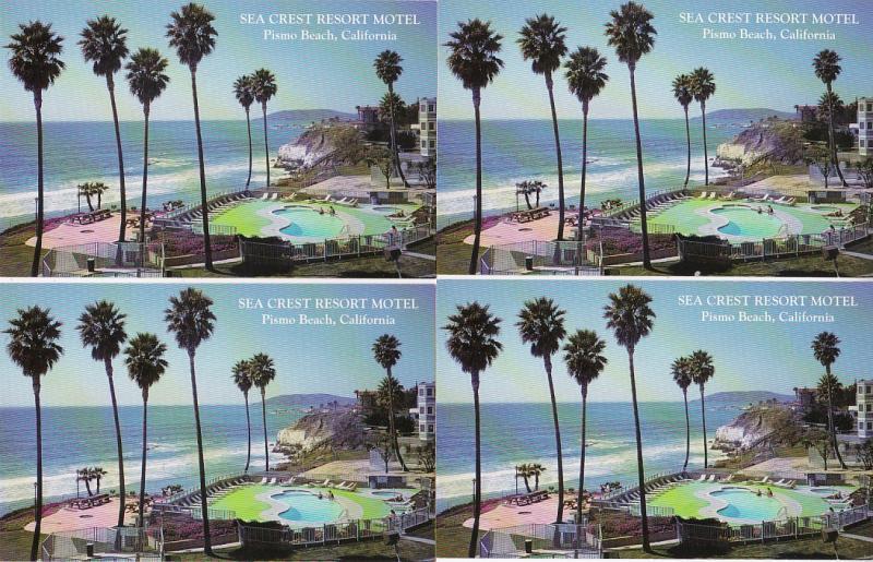 0157 Grabbag Auction 4 Motel Postcards Starting At .99