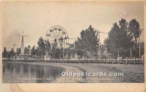 Bridgeport, Connecticut, CT, USA Postcard Ferris Wheel and Swing Steeplechase...