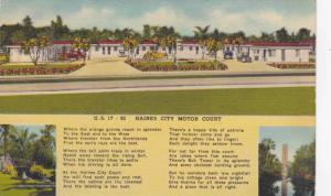 Exterior, Haines City Motor Court, Haines City, Florida,PU-30-40s