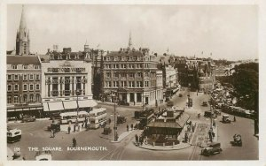 Bournemouth square 1932 real photo postcard correspondence Switzerland Lausanne