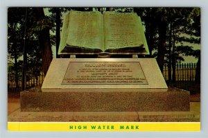 Gettysburg PA- Pennsylvania, High Water Mark, Memorial, Chrome Postcard