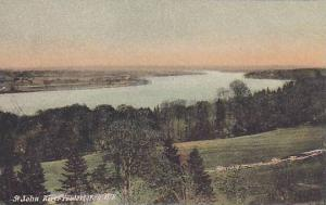 Partial Scene, St. John River, Fredericton, New Brunswick, Canada, 1900-1910s