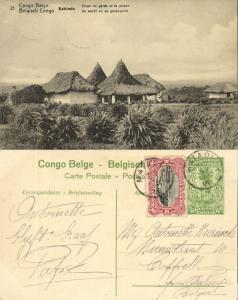 belgian congo, KABINDA, The Guard and the Prison (1920s) Postcard (21)