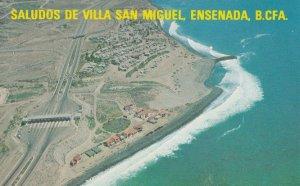 Saludos De Villa San Miguel Ensenada Aerial Mexico Postcard
