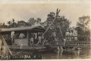 RP: PORT CHORRERA , Panama , 1900-10s ; Boat