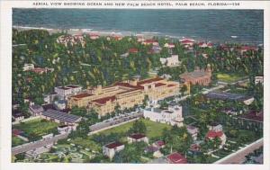 Florida Palm Beach Aerial View Showing Ocean And New Palm Beach Hotel