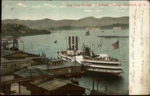 Hudson NY Day Line Steamer Boat New York c1905 Postcard