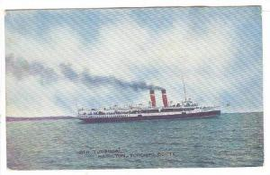 Steamship TURBINIA , Hamilton-Toronto Route, Canada 00-109s