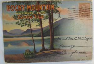 Vintage Postcard Souvenir Folder Rocky Mountain National Park Circle Trip