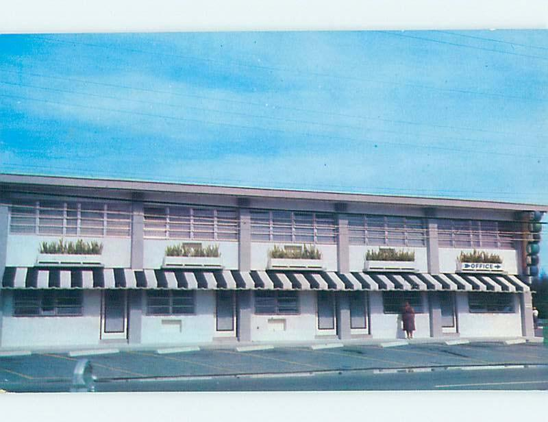 Unused Pre-1980 MOTEL SCENE Hollywood Beach - Near Miami Florida FL G6866