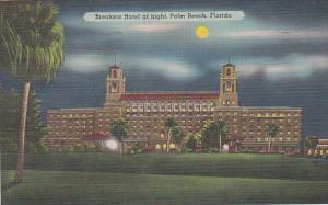 Florida Palm Beach Breakers Hotel At Night 1940