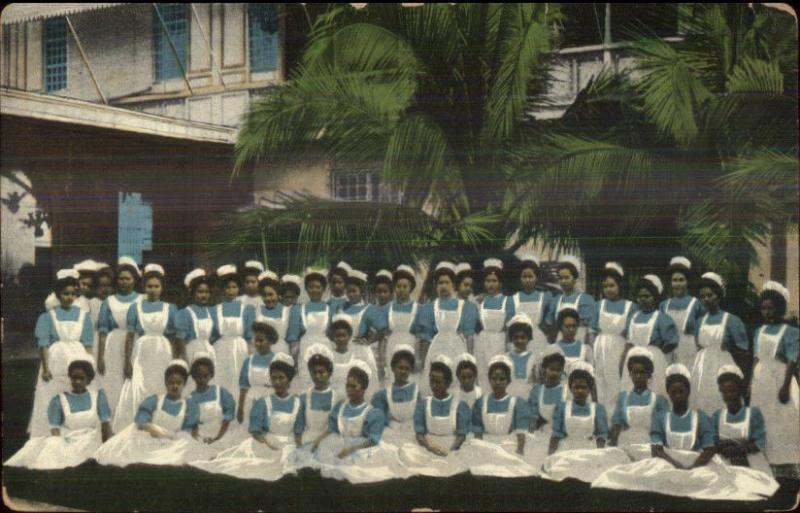 Philippnes - Nurses in Uniforms c1910 Unidentified Postcard