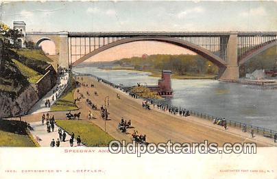 Bridges Vintage Collectable Postcards New York, USA Speedway & Washington Bridge