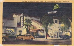 California Hollywood The Rendezvous Of The Stars The Brown Derby