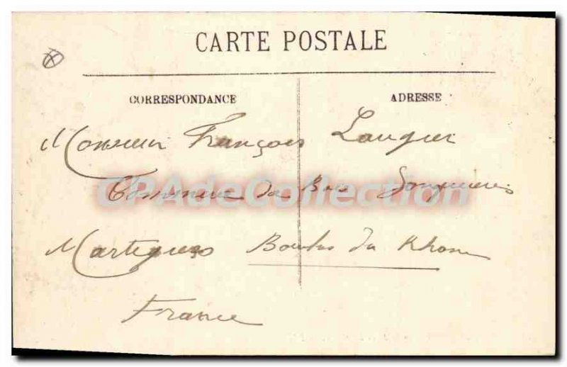 Old Postcard Menton Vue Prize From the Border