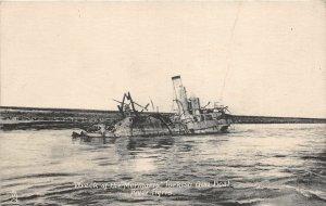 uk41875 river tigris wreck of the mermaris turkish gun boat iraq war