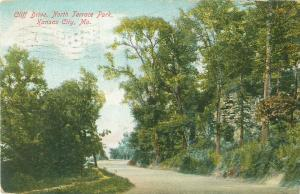 Cliff  Drive North Terrace Park Kansas City, Missouri MO 1907 Postcard