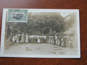 Belgian Congo Postcard RPPC? 1912 Lrg Formal Gathering People in Dresses & Suits