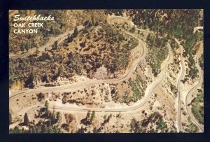 Flagstaff-Sedona,  Arizona/AZ Postcard, Switchback Road, Oak Creek Canyon, 1968!