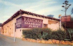 RAMONA'S MARRIAGE PLACE San Diego, CA Casa de Estudillo c1950s Vintage Postcard