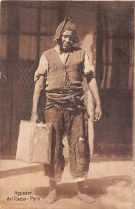 Peru Aguador del Cuzco, Native Man 1919