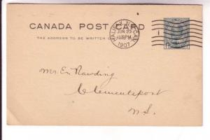 Canadian Postal Stationary, Edward VII, 1 Cent, Chronicle Publishing Halifax,...