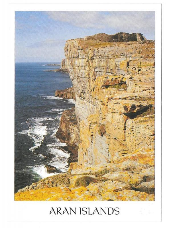 Aran Islands Cliffs Ireland Vintage John Hinde 4X6 Postcard