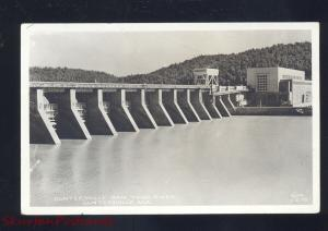 RPPC GUNTERSVILLE ALABAMA TENNESSEE RIVER DAM VINTAGE REAL PHOTO POSTCARD