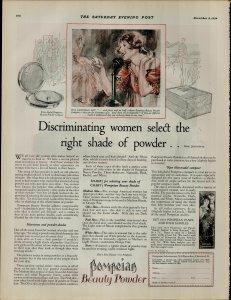 1924 Pompeian Beauty Powder Women Select thr Right Shade Vintage Print Ad 3946