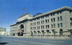 Winnipeg, Manitoba Canada, du Canada Canadian National Railway Station  Canad...