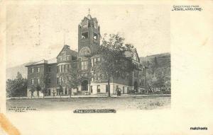 1906 The High School Ashland Oregon Souvenir undivided postcard 5830