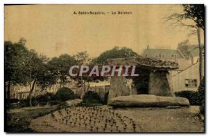 Old Postcard Dolmen Menhir Saint Nazaire dolmen (TOILEE map)