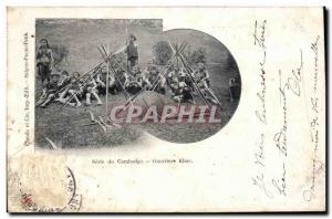 Old Postcard Series Cambodia Warriors Khas Vietnam
