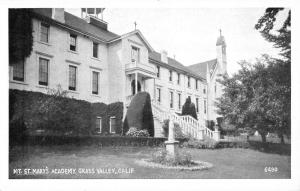 Grass Valley California Mt St Marys Academy Street View Antique Postcard K89367
