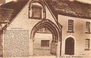 St. John's Arch, Inscription, King Athelstan, Burrough of Malmesbury