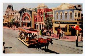 The Upjohn Pharmacy Main Street Disneyland Vintage Postcard Standard View Card