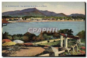 Old Postcard Saint Jean de Luz General View of the Bay and the Rhune
