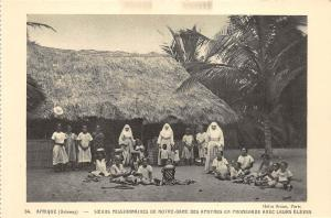 BF35750 dahomey sceurs missionnaires de notre dame benin  front/back scan