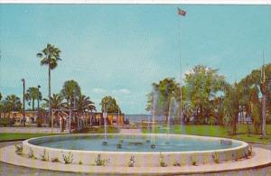Florida Eustis Ferran Park & Fountain Showing Shuffleboard Courts