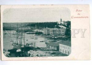 147125 TURKEY Salut Constantinople Vintage undivided postcard